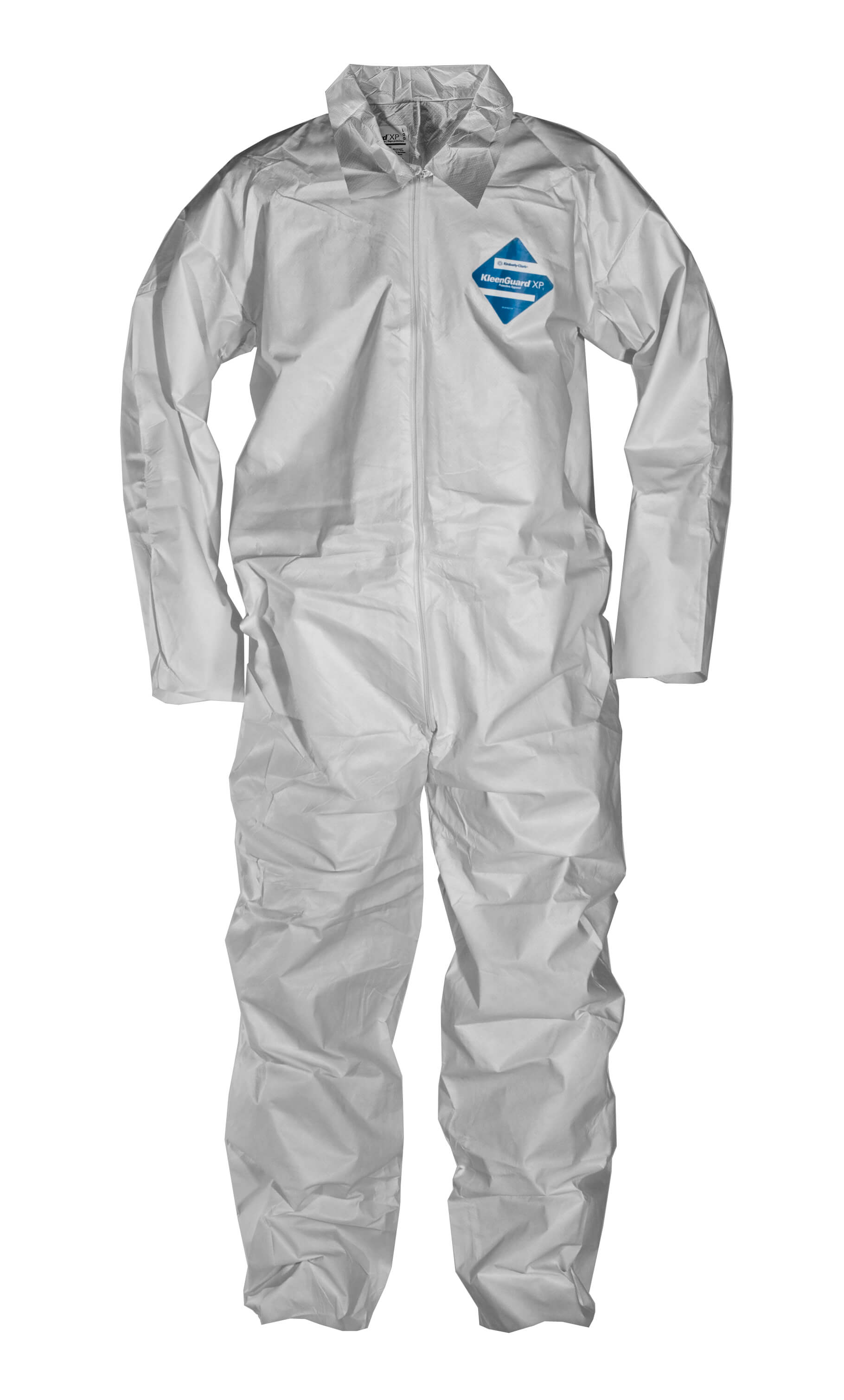 Coverall with zipper front